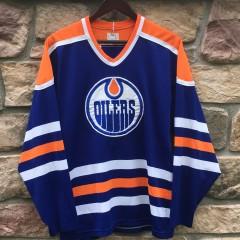 vintage 80's Edmonton Oilers Maska HOckey jersey size medium
