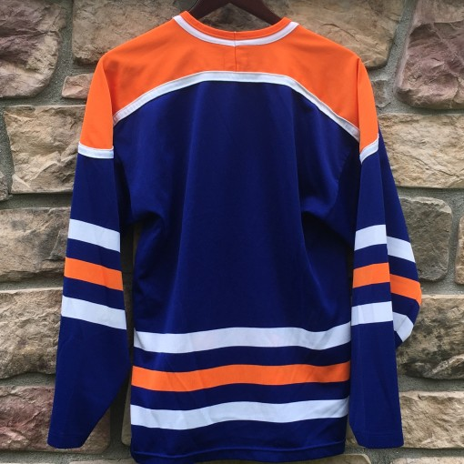 blank vintage 80's edmonton oilers jersey