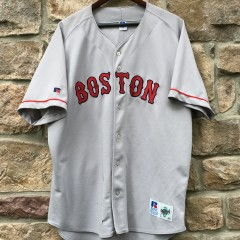 vintage 90's authentic Boston Red Sox Mo Vaughn russell diamond collection jersey size 52