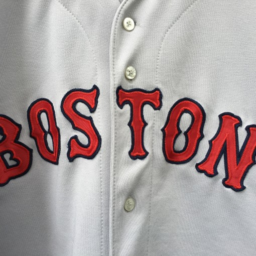 vintage 90's authentic Boston Red Sox grey jersey