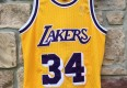 1997 Shaquille o'neal los angeles lakers authentic gold logo champion nba jersey size 40 medium