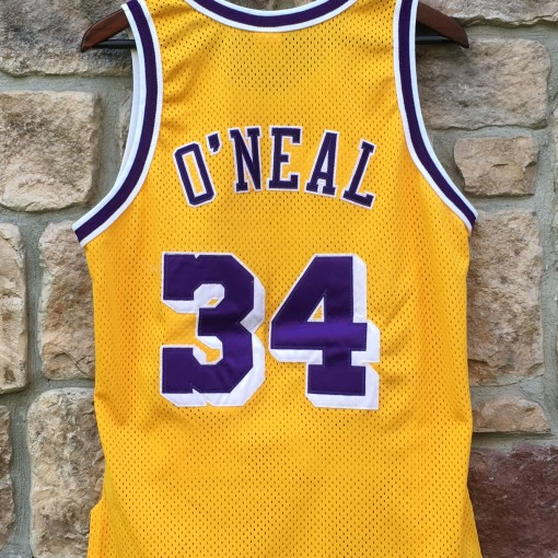 authentic Shaq los angeles lakers 1997 nBA jersey