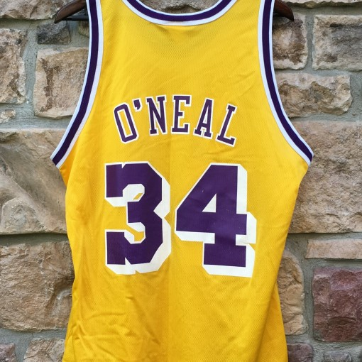 shaquille o'neal LA lakers vintage 90's nba jersey