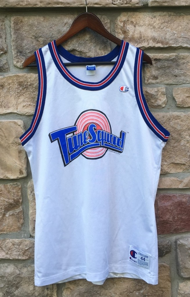 1996 Tune squad space jam champion jersey size 44 sylvester the cat 872a441d2