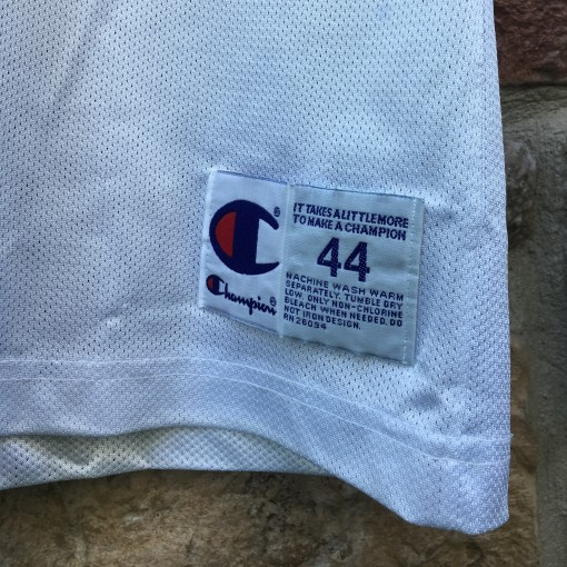 size 44 champion basketball jersey vintage 90's