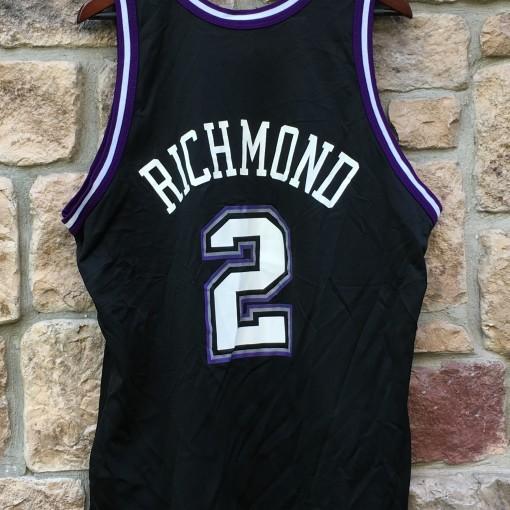 vintage 90's mitch richmond champion nba jersey