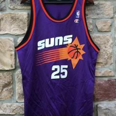 90s oliver miller Phoenix suns champion nba jersey size 48 purple