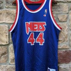 90's derrick coleman new jersey nets throwback jersey champion size 48