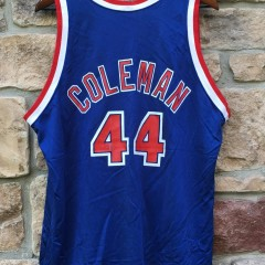 vintage 90's derrick coleman new jersey nets champion jersey