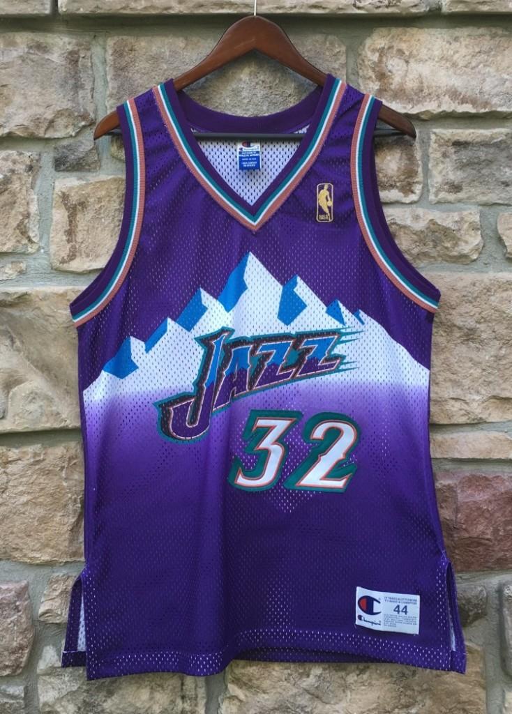 size 40 33fc9 4a985 1997 Karl Malone Utah Jazz Authentic Champion NBA Jersey Size 44