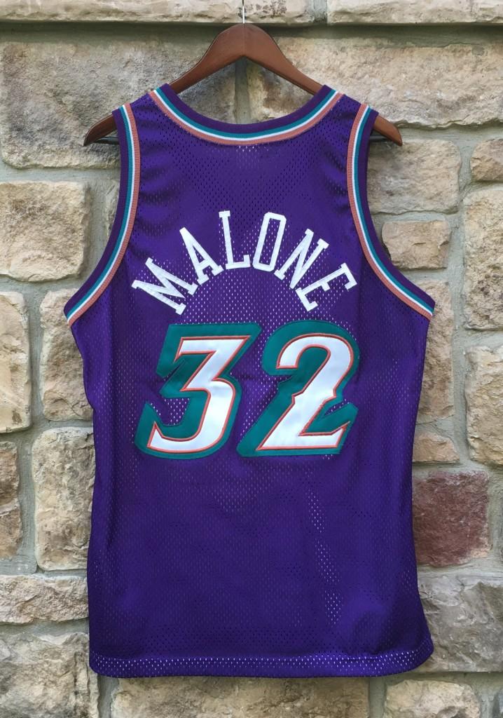 2ceb21ac25b vintage 90's authentic Karl Malone utah jazz champion nba jersey size 44  large