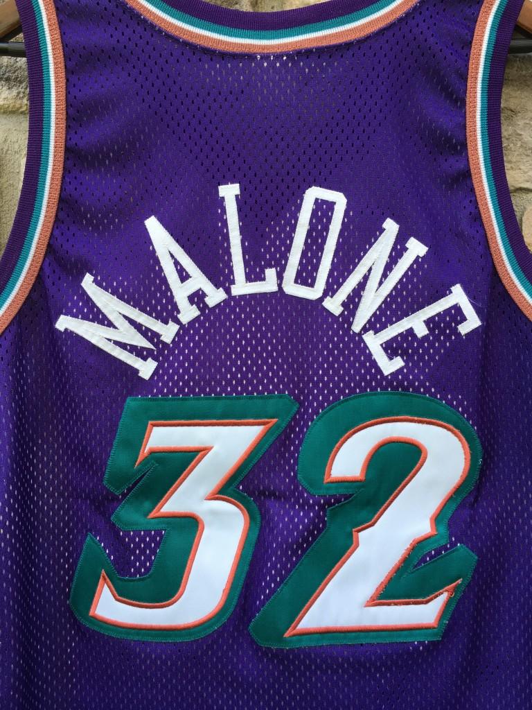 size 40 01abf fedfd 1997 Karl Malone Utah Jazz Authentic Champion NBA Jersey Size 44
