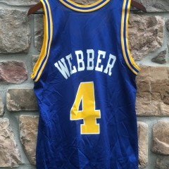 90s warriors webber throwback jersey OG