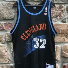 90s tyrone hill cleveland cavaliers champion nba jersey