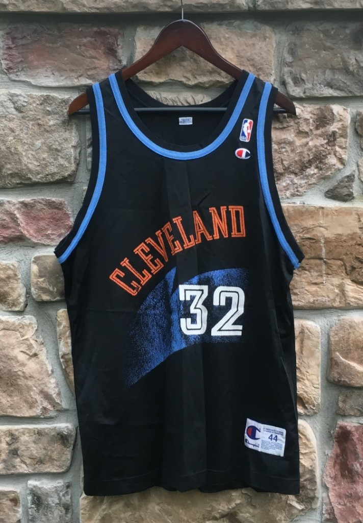 the latest df17c dc782 1995 Tyrone Hill Cleveland Cavaliers Champion NBA Jersey Size 44