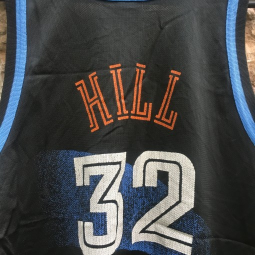 vintage tyrone hill cleveland cavaliers champion nba jersey