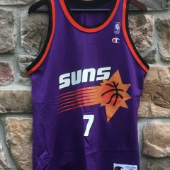 90's kevin johnson phoenix suns purple champion jersey size 40 medium