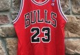 michael jordan chicago bulls 90's champion red nba jersey size 44 large