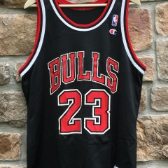 vintage 90's Michael Jordan chicago bulls champion nba jersey size 44 large