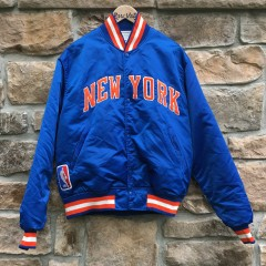 vintage 80's New york knicks starter satin bomber jacket OG