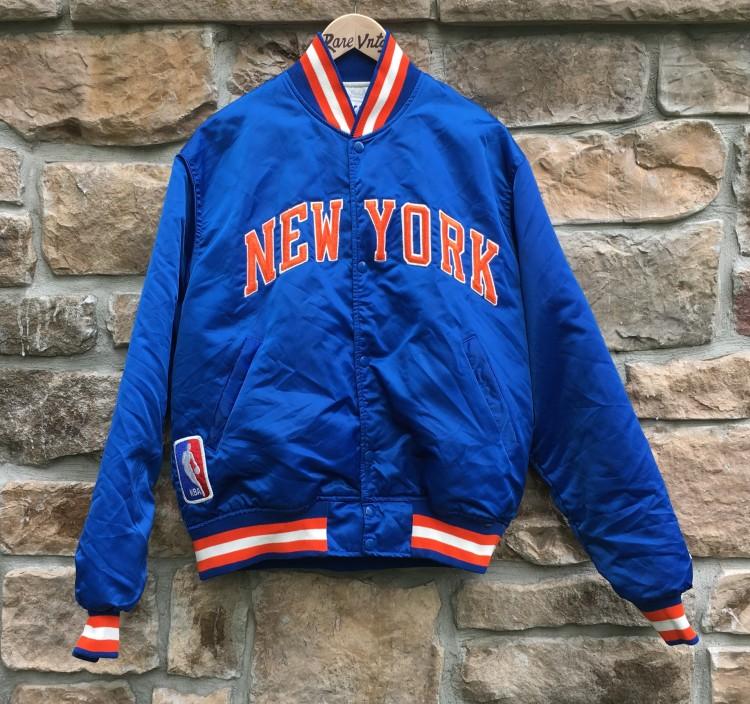 e65b5bf6014 1989 New York Knicks Starter NBA Satin Jacket Size Large | Rare Vntg