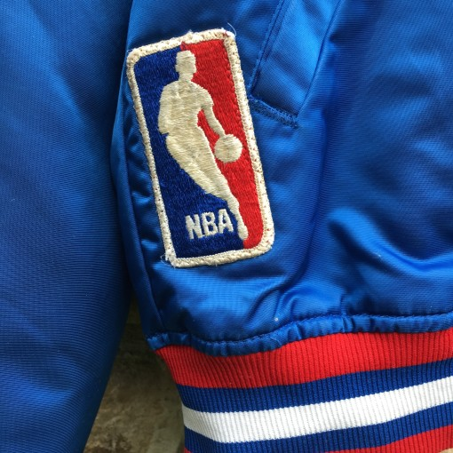 NBA patch on vintage starter satin jacket
