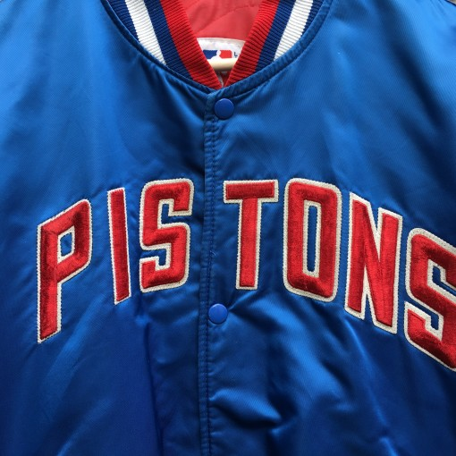 vintage Detroit Pistons starter satin bomber jacket