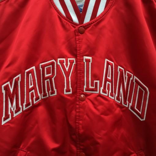 vintage university of maryland starter satin jacket size XL