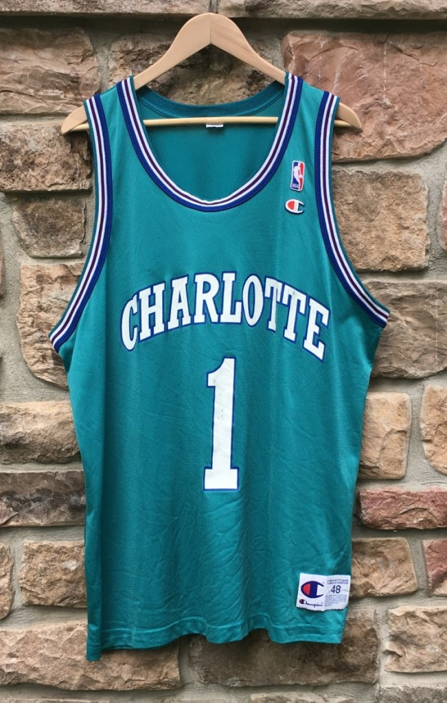 0ca8de613 vintage 90 s Muggsy bogues charlotte hornets nba jesey size 48 extra large