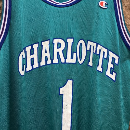 charlotte hornets 90's nba throwback jersey