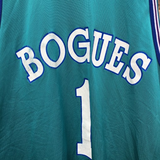 muggsy bogues charlotte hornets champion nba jersey size 48