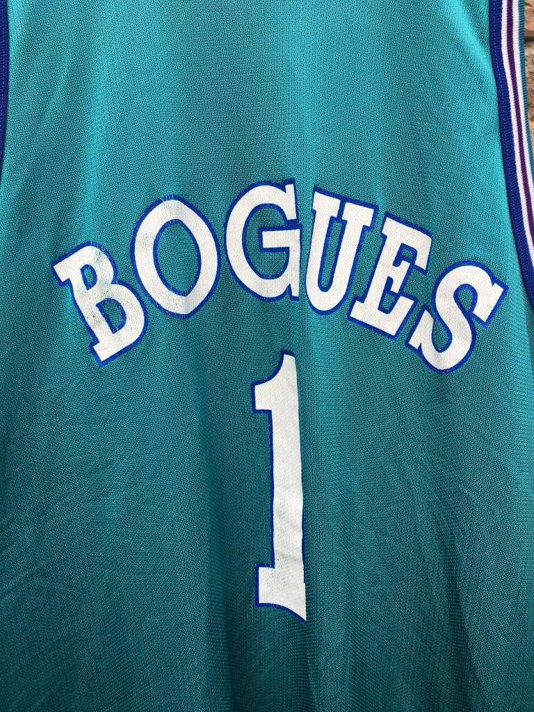 new styles c48e8 fba6f 1994 Muggsy Bogues Charlotte Hornets Champion NBA Jersey Size 48