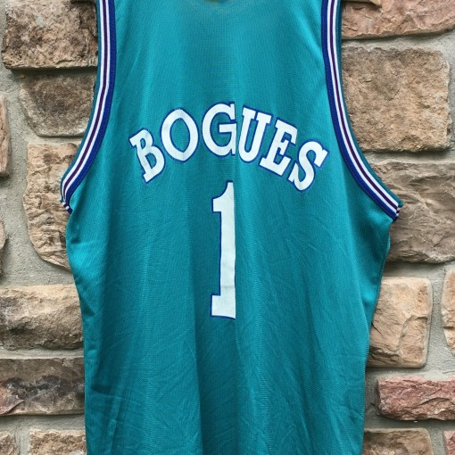 90's aqua charlotte hornets nba jersey