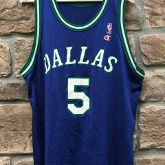 90's jason kidd dallas mavericks champion nba jersey size 48