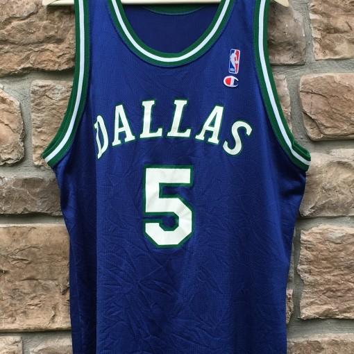 90's jason kidd dallas mavericks champion nba jersey size 48