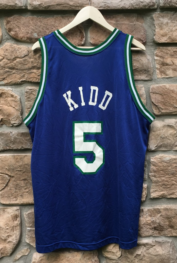 ... dallas mavericks champion nba jersey size 48. vintage jason kidd  mavericks jersey 09435a788