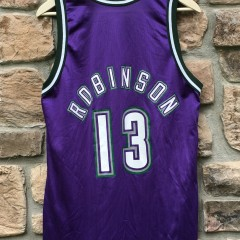 90's glenn robinson milwaukee bucks champion nba jersey size 40 medium