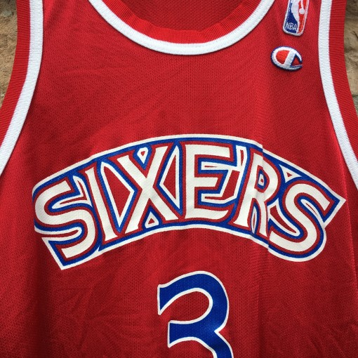 A.I. 76ers rookie jersey red champion replica red