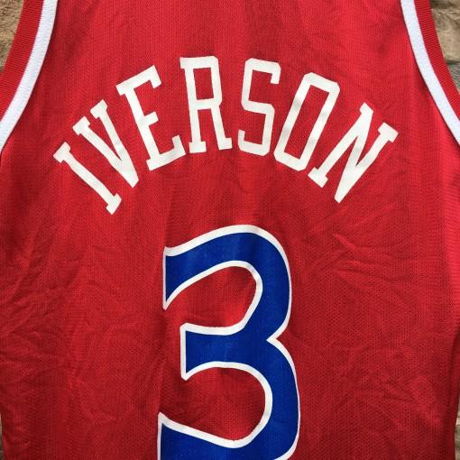 vintage allen iverson champion nba jersey