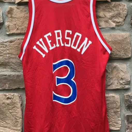 red allen iverson rookie jersey