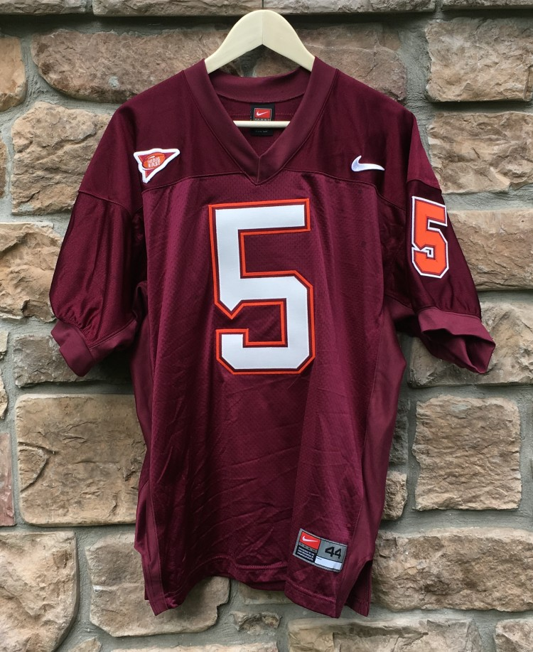huge discount 9818d 5ff5d 2003 Marcus Vick Virginia Tech Hookies Authentic Nike NCAA Jersey Size 44