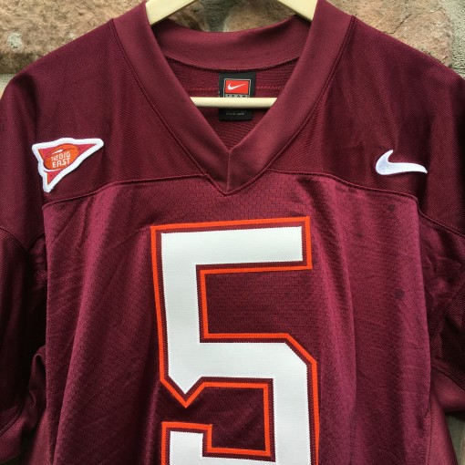 2003 marcus vick authentic Virginia tech hookies authentic NCAA football jersey size 44 large