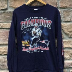 2004 Super Bowl XXXVIII Champions tom brady new england patriots shirt size medium vintage