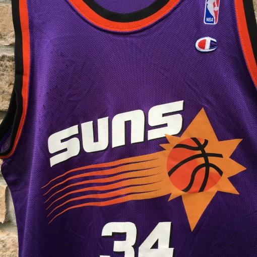 vintage 90's phoenix suns charles barkley nba jersey size 44 large