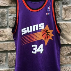 vintage Barkley Suns purple champion nba jersey size 44 large