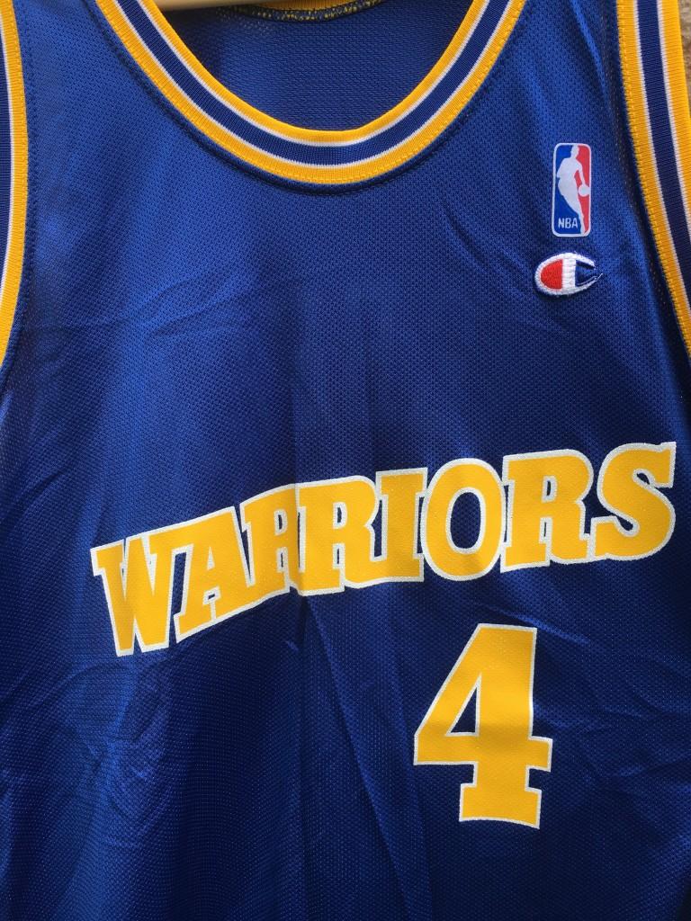 45fbfffcf6d vintage 90 s Chris Webber golden state warriors champion nba jersey size 48  XL