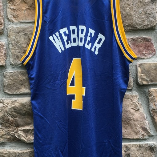 vintage 90's Chris Webber golden state warriors champion nba jersey size 48 XL