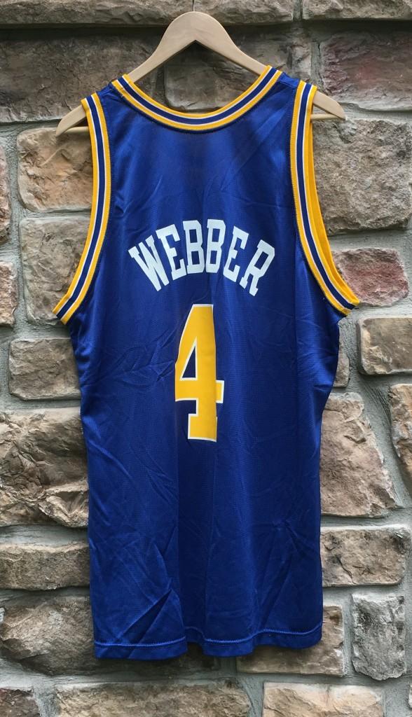 88d1e26f0 vintage 90 s Chris Webber golden state warriors champion nba jersey size 48  XL