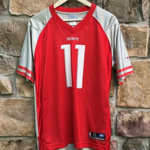 vintage yao ming houston rockets reebok football jersey nba youth XL