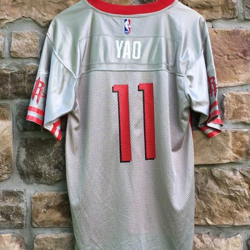 vintage Yao Ming Houston Rockets reebok nba football jersey youth xl mens small medium